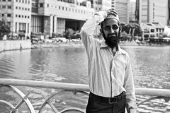 streetSG_176 (calvinistguy) Tags: people man hat beard singapore asia muslim islam streetphotography portraiture singaporeriver cavenaghbridge edinburghbridge calvinistguy