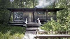 New Sauna Lake Facade (ken mccown) Tags: wood architecture suomi finland safa kiljava newsauna