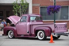 Shades of Purple (Lake Effect) Tags: orange white art ford 1955 wall truck purple cone walk indiana pickup vehicle elkhart msh0812 msh081220
