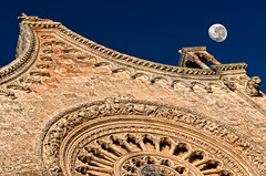 Cathedral and the moon (Photos On The Road) Tags: travel blue sunset sky urban italy moon building tourism church horizontal architecture outside religious outdoors europa europe italia tramonto catholic cathedral outdoor religion nobody nopeople landmark luna historic chiesa southern cielo ornate turismo puglia cattedrale storico gotico cattolico apulia ostuni religione outdoorshots religioso meridionale orizzontale gotchic decorato ornato outdoorshot