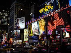 Times Square 2004 (Mista Sparkle) Tags: street newyork night lights neon walk virgin timessquare phantomoftheopera mammamia ethos turningpoint