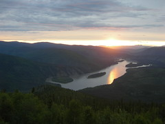 The Midnight Sun (jimmywayne) Tags: view yukon midnight midnightsun dawsoncity yukonterritory midnightdome