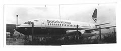 "..I recently unearthed my very first image of a plane (two 6 x 4"" B/W prints and Sellotape). (A380spotter) Tags: flight12091991ba0443amslhr11f0047 scan monochrome blackwhite blackandwhite bw print analogue manualcompositeimage two6x4inchprints sellotape zenit zenith zenite zenithe 35mmslr camera boeing 737 200a 200adv super737 gbgdg britishairways baw ba negusneguslivery speedbird royalmail britishairwaysengineering maintenancebaseoffices technicalblock eastchurchroad hatton london heathrow egll lhr"