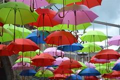 2012-08-23: Borough Umbrellas (236/366) (psyxjaw) Tags: sculpture london art yard umbrella colours bright market railway boroughmarket borough londonist