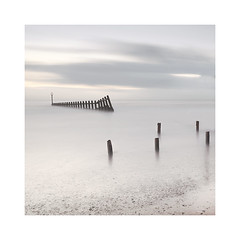Isolation (richieJ 11) Tags: dawlishwarren devon seaside coast sea groyne woodenpost pastel longexposure beach