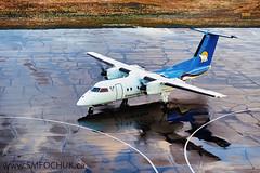 Stephen M. FochukC-GRGO (Stephen M. Fochuk) Tags: cgrgo canadiannorth dash8 cyzf yellowknife nwt northwestterritories wet water canadiannorthairline aviation