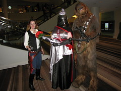 Han Solo, Miss First Order, and Chewbacca (foodbyfax) Tags: dragoncon dragoncon2016 cosplay hansolo missfirstorder chewbacca captainphasma chewie starwars