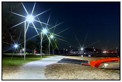 Orange Canoe (juliewilliams11) Tags: outdoor evening stars path waterfront newsouthwales australia canoe nightshot canon