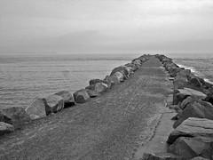 Swansea Channel Breakwall to sea - 07 1 - 5327 - Copy (Tim J Keegan) Tags: australia bw nsw huntervalley lakemacquarie swansea blacksmiths breakwall channel
