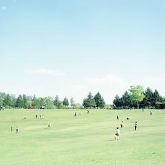 Park (hisaya katagami) Tags: hasselblad500cm 120film fujifilm pro400h outdoor photography minimalism landscape peoples