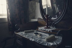 Chills (Just Josie) Tags: interior dressingtable candle mirror earlymorning