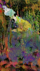 Colors in the Cave (flynryon) Tags: flynryon texture canvas flickr fingerpaintedit iamda paintbookca mobile art scumble mike ryon ipainter landscapes portraits figures mashablecom iphone digital artist glaze artstudio aurynink