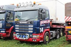 Bowler Racing Scania 124 J14 BWL Great Dorset Steam Fair 2016 (davidseall) Tags: scania j14 bwl j14bwl 124 truck lorry artic tractor unit hgv lgv great dorset steam fair large heavy goods vehicle haulage