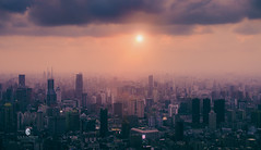 (L-E-N-G) Tags: shanghai scene impressed sun sky sunrise life travel lujiazui tower haze architecture asia china city wide gettyimages nikon