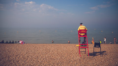 A day out in Whitstable (xDiscobobx) Tags: blue baywatch ocean beach whitstable seascape beachhuts tankerton landscape red