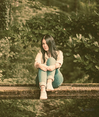 (Mystic Face Photography) Tags: forest bridge nature outside girl 50mm spontaneous summer luzern switzerland