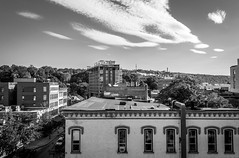 Ithaca Sky (bradmer12) Tags: ithaca bw black white monochrome nikon ny new york city cityscape