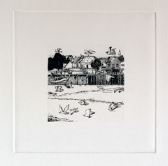Le Port (tpv2009) Tags: art gravure drypoint pointesche dessin tpv lecrotoy baiedesomme
