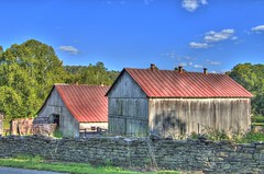 Barns in the Valley (TDotson) Tags: canon70d browncountyohio browncounty farmlife farm farmscene farmcountry barns barn oldbarns oldbarn ohiobarns ohiofarms hss sliderssunday happysliderssunday hdr oldandbeautiful
