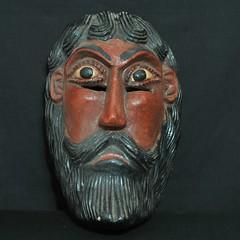 Mexican Mask from Guerrero (Teyacapan) Tags: mascara mexicana mexican mask wood nahua guerrero mexico man faces carvings