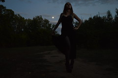 DSC_0693 (saadat1917) Tags: dasha forest tights stockings high heels engels russia gothic goth girl long hair blonde 16 inches 17 platform platforms skirt sexy black dark depressive gloomy death nature satanic ritual nu tree tulle lace