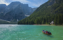 Crystal Water (Marco Micheli) Tags: photo photography foto fotografia landscape panorama water acqua dolomiti dolomites boat barca alpi mountain montagna nikon d90 18140 nikkor natura nature colore color green light luce