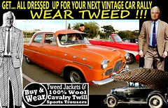 Car Rally  Vintage Tweed  2 (80s Muslc Rocks) Tags: vintage vintagemetal vehicle vehicles vintagecar veterans veteran classic canon clothing christchurch car clothes coat cars cavalrytwill cavalrytwilltrousers carshow nz newzealand nelson napier northisland newzealandvintagecar auckland ashburton australia auto tie tweed tweedjacket tweedjacketphotos tweeds dunedin invercargill hastings houndstooth houndstoothjacket harris headlights 2016 retro rotorua race rally oldschool old oldcars older 1980s 1970s 1960s 1950s plaid blazer blokes guys racing outdoor twill text scottishtweed scottish scotland uk british brisbane britsh sydney