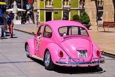Escarabajo rosa (Jos E.Egurrola/www.metalcry.com) Tags: coche rosa pink car escarabajo beetle es cocherosa pinkcar cochedeboda wedding boda nupcial cochenupcial vehiculo auto vw volskwagen