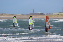 Rhosneir Threesome (rogerlloydwilliams) Tags: rogerwilliams rogbrynllys sealion llandudno boats colour sky feeding hand water zoo colwynbayzoo seaside tram tramway greatorme rhosneigir windsurfing rough sea kite kites blue anglesey rhosneigr2592016