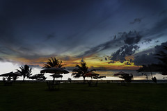 #850C9734H- Melawai in my Dreams (crimsonbelt) Tags: sunset storm beach clouds dreams balikpapan melawai