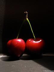161/366 (Marie l'autre) Tags: red food art blackbackground fruit canon project catchycolors cherry rouge ixus 365 couleur cerise 2012 projet onblack cerises 366 fondnoir project365 projet365 project366 marielautre 100is projet366 olderbutnotold 2012inphotos