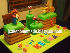 Super Mario cakes (Jcakehomemade) Tags: party celebration videogamecake homemadecake firstbirthdaycake charactercake noveltycake 3dcake gamecakes customizedcake childrenbirthdaycake supermariobirthdaycake childrenfondantcake cakeforkeenancakesbyjessicalawwwwjcakehomemadeblogspotcomcake