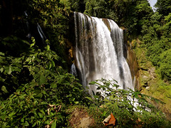 Pulhapanzak waterfall (*Andrea B) Tags: cliff white water america swimming swim river de lago waterfall spring jump jumping rainbow whitewater central honduras jungle iguana april cave lagodeyojoa cliffjumping mainland centralamerica 2012 yojoa pulhapanzak cliffjump watercave xpedition junglexpedition pulhapanzakwaterfall mainlandhonduras