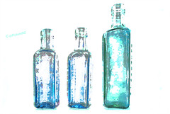 Antique Bottles (Steve Taylor (Photography)) Tags: uk camp art ess coffee digital vintage bottles britain antique glasgow gb highkey chicory patersons