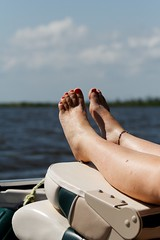 chillin' (Mr. Greenjeans) Tags: water louisiana chillin boating recreation relaxation putyourfeetup 70mm canonef70300mmf4556isusm mrgreenjeans gaylon onthewater summeractivities lakemaurepas gaylonkeeling takeyourshoesoffandsitaspell