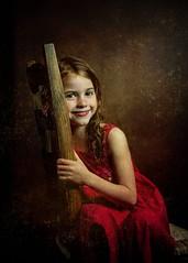 Sitting pretty.. (jetbluestone) Tags: portrait texture girl chair child strobist