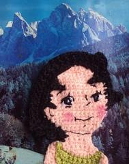 "Heidi en la montaa (""Alebazar"" (tienda virtual)) Tags: heidi handmade crochet aplicacin"