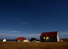 Moonlight on Bleaker Island (World Traveller Photography) Tags: longexposure light sky moon house night stars village falklandislands settlement eastfalkland bleakerisland