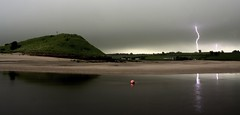 English Summer (simonwaroberts) Tags: summer storm reflection water rain clouds river alnmouth thunderstorm lightning thunder aln