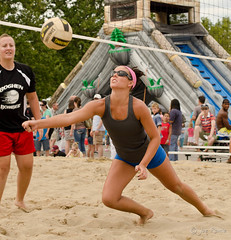 Sand volleyball - IPFW Riverfest - Saturday - 008 (rikki480) Tags: game beach festival ball campus fun hit sand university dive indiana tournament volleyball purdue riverfest bump fortwayne fairplay lunge treska onearmed ipfw