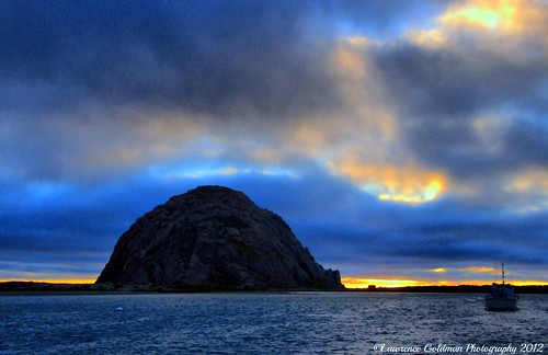 Sunset in Blue Morro Bay California