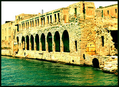 Lazzaretto (albireo2006) Tags: sea wallpaper water hospital ruins mediterranean background arches malta lazaretto lazzaretto gzira manoelisland