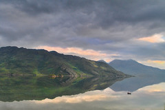 Coming Home - Scottish Highlands (Michael~Ashley) Tags: sunset clouds photography scotland boat highlands nikon scottish hills loch munros knoydart hourn d3100