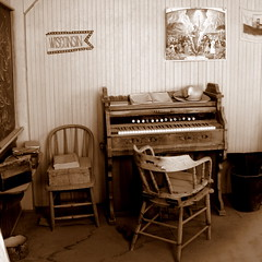 child's room. (H o l l y.) Tags: old sepia vintage town ghost piano western bodie
