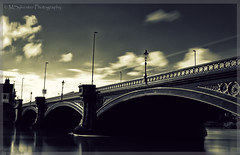London Bridge - Nottingham (MartinSylvester Photography) Tags: road park street city nottingham uk longexposure bridge blue england urban blackandwhite abstract detail art water lines sepia bulb clouds photoshop vintage river dark grey cool exposure moody afternoon angle britain pov metallic smooth creative relaxing highcontrast floating atmosphere sunny pointofview copper gb reflective british dreamy flowing amateur pointshoot pleasant degree silky splittone notts shutterpriority greatphotographers thegalaxy tonecurves bridgecamera panasonicdmcfz38 fz35 adobelightroom3 mygearandme ringexcellence dblringexcellence tplringexcellence eltringexcellence