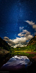 maroon bells under a full moon (tmo-photo) Tags: lake mountains reflection night stars colorado g aspen milkyway tmophoto