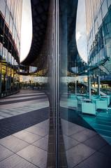 divided reflection, bonn (Tafelzwerk) Tags: reflection building tower window skyscraper reflections mirror nikon bonn post fenster spiegel reflexion gebäude dhl reflexionen wolkenkratzer d7000 tafelzwerk