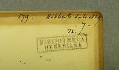 GrC Ar466 Ef16 1508 (Provenance Online Project) Tags: stamps inscriptions unidentified provenance pennlibraries greekcultureclasscollection cultureclasscollection heberrichard17731833 bibliothecaheberiana grcar466ef161508 hibbertgeorge17571837