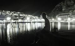 Self Portrait - By Night - Happy BDay My Flickr ^^ (Drops of Neptune) Tags: sardegna costa mare porto autoritratto notturna molo luce miniera iglesiente buggerru mardisardegna maredinotte