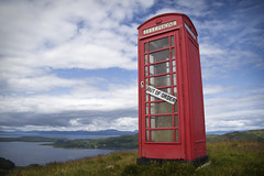 The Lonely Red Box (Cobiie) Tags: red classic canon out landscape scotland order phone sheep box telephone south hill oban lonely loch the beinn melfort arduaine of 60d 257m chaorach